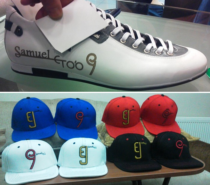 Eto'o chaussures et casquettes