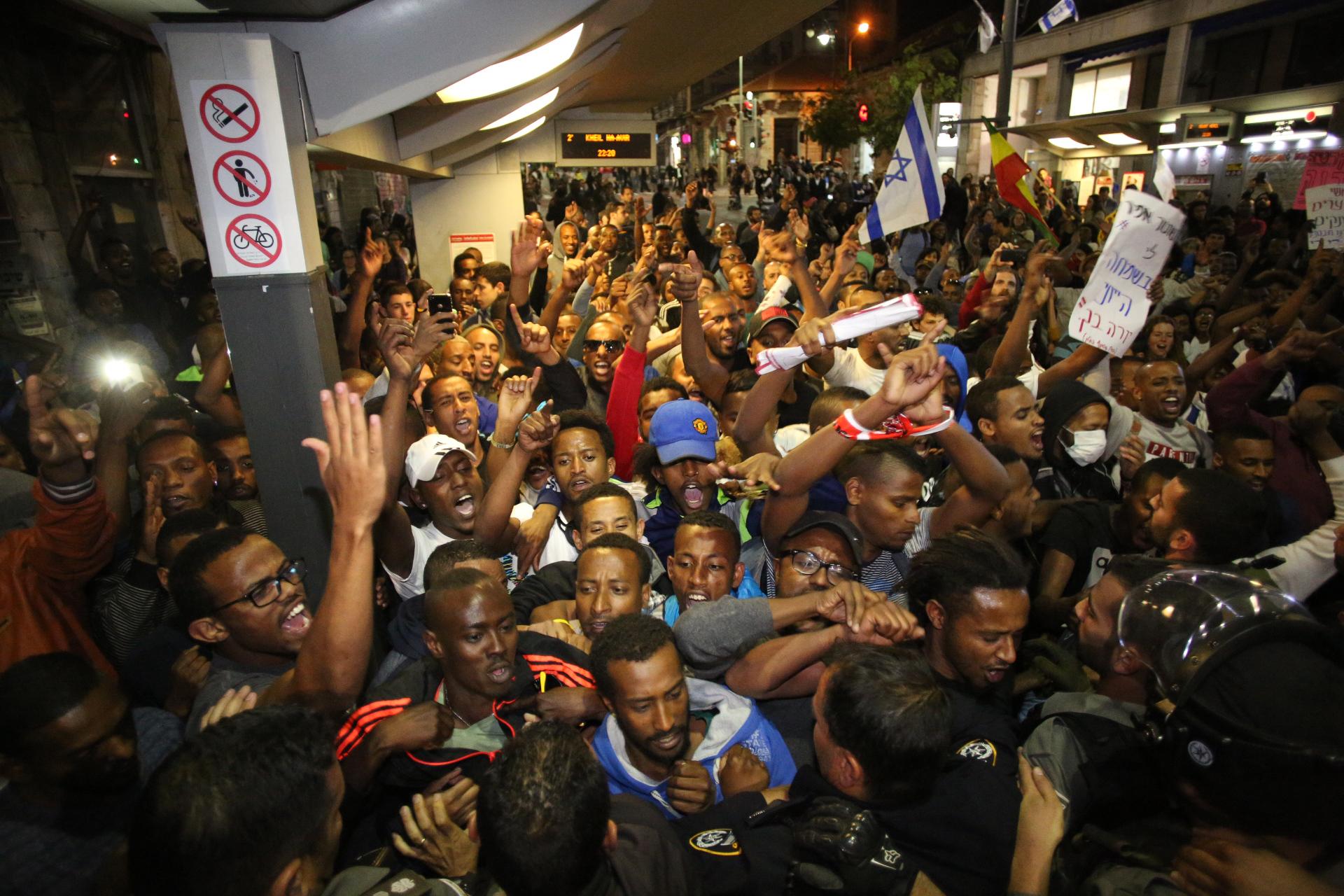 La manifestation du 30 aril 2015 à Jerusalem (Crédit photo : Emil Salman)