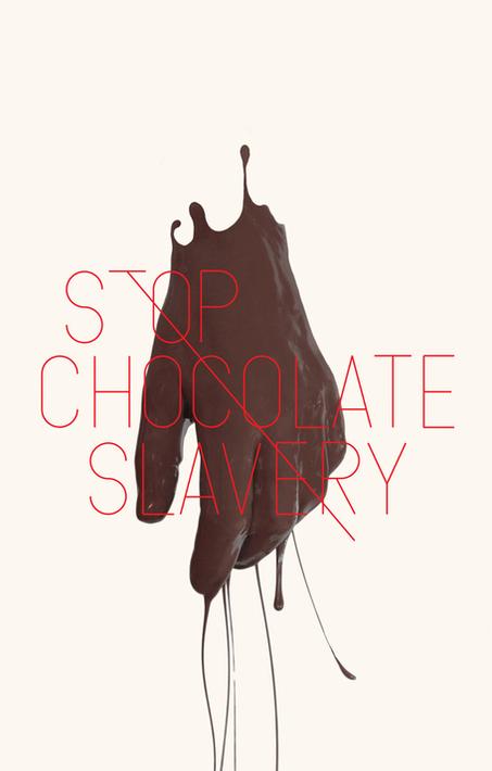 'Stop Chocolate Slavery' une série d'oeuvres de Felix von der Weppen dénonçant la vente, l'utilisation et l'exploitation de jeunes de 12 à 16 ans pour travailler dans des plantations de cacao de Côte d'Ivoire dans des conditions inhumaines sous la pression d'entreprises occidentales ou du gouvernement ivoirien.