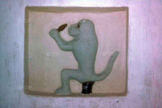Bas-relief du palais de Guezo associé à Adandozan