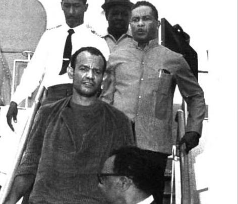 Michael X lors de son arrestation en 1973