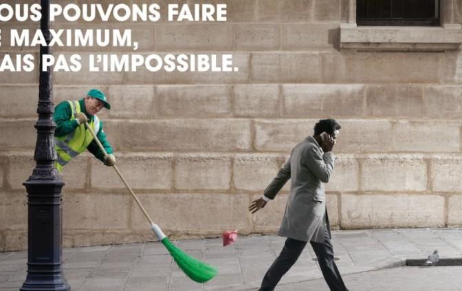 La campagne pour la propreté des rues de Paris est elle une insulte aux Noirs?