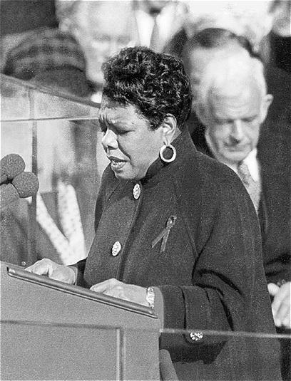Maya Angelou lors de l'investiture de Bill Clinton en 1993