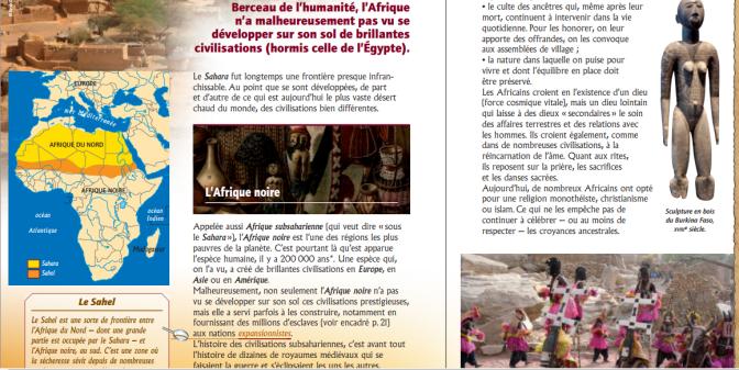 «L'Afrique n'a jamais eu de grandes civilisations» selon un livre pour enfants (2011)