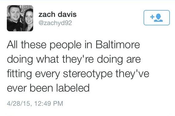 """""""Tous ces gens à Baltimore (qui participent aux émeutes) confirment tous les stéréotypes qu'on leur a attribué""""."""