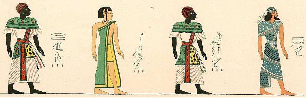 Repriduction des Table des races de la tombe de Ramsès III par Lepsius
