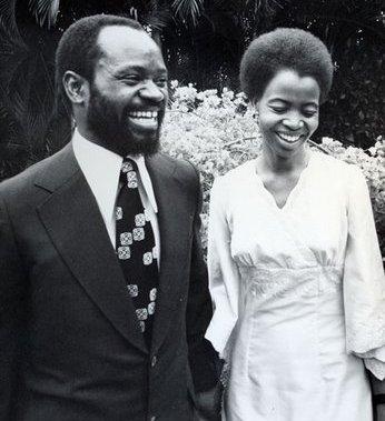 Le président samora Machel et son épouse Graça Machel