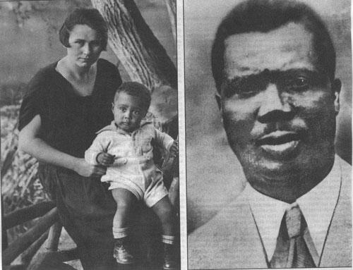 Le jeune Hans Massaquoi et ses parents