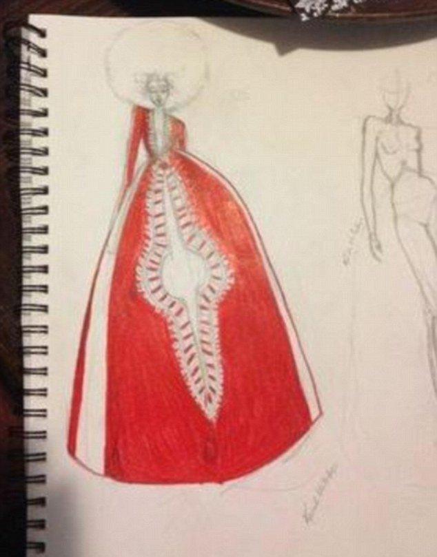 La robe dessinée par Kyemah
