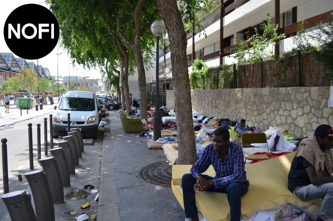 La misère des réfugiés, 47 rue Pajol