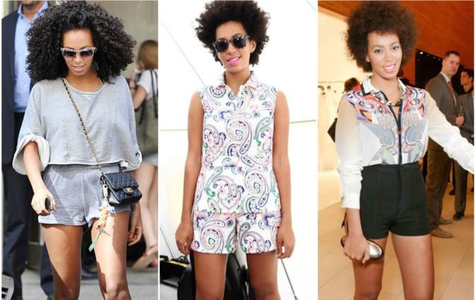 Look de Star: 3 façons de porter un short comme Solange Knowles