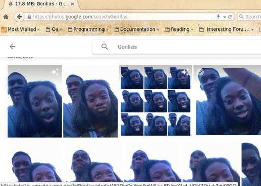 Quand Google photos confond deux personnes noires avec des gorilles