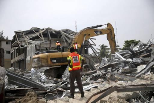Une école s'est effondrée au Nigeria