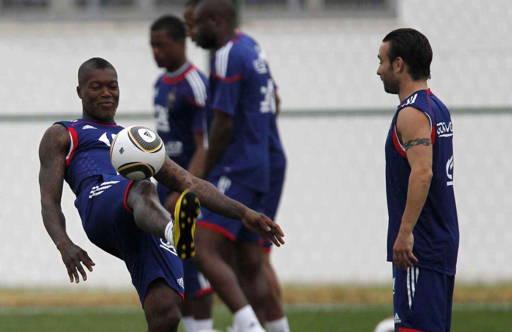 Djibril Cissé et Valbuena