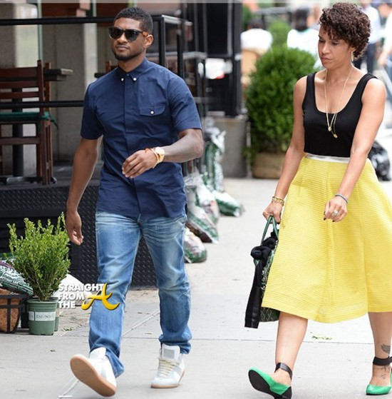 Usher et sa femme