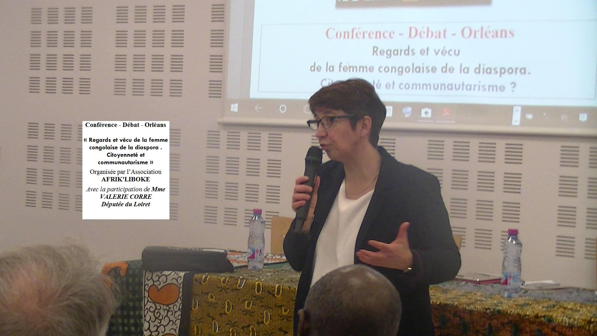 Valérie Corre, députée du Loiret à la Maison des associations d'Orléans pour la conférence de l'association Afrik Liboké
