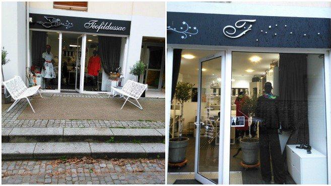A droite, le magasin d'Anmary après des actes de vandalisme