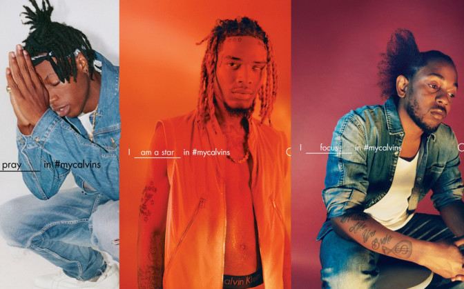 Kendrick Lamar, Fetty Wap & Joey Badass dans la nouvelle campagne de Calvin Klein