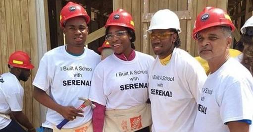 Serena Williams a bâti une école en Jamaïque pour des enfants défavorisés