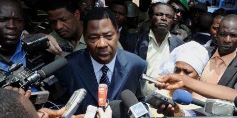 Thomas Boni Yayi après avoir voté dimanche
