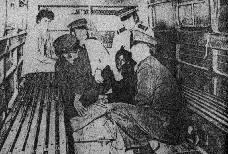 Reconstitution photo de l'arrestation de Loïc Léry Source: Version Zéro