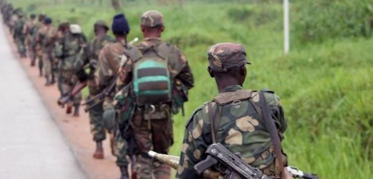 Soldats à Beni, RDC