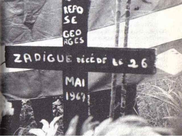 Stèle en hommage aux 4 morts de la répression de mai 1967