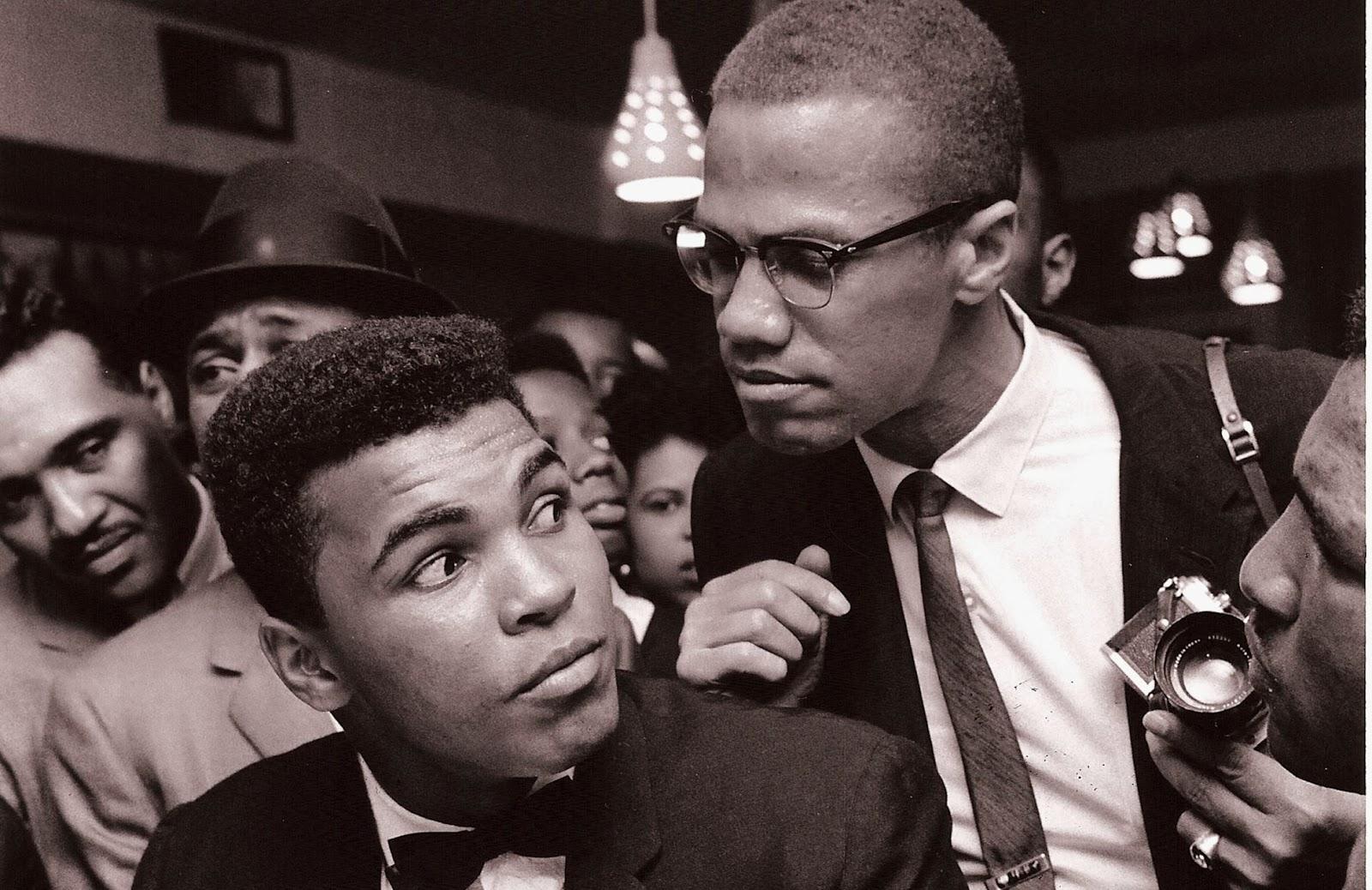 Mohamed Ali et son ami Malcolm X