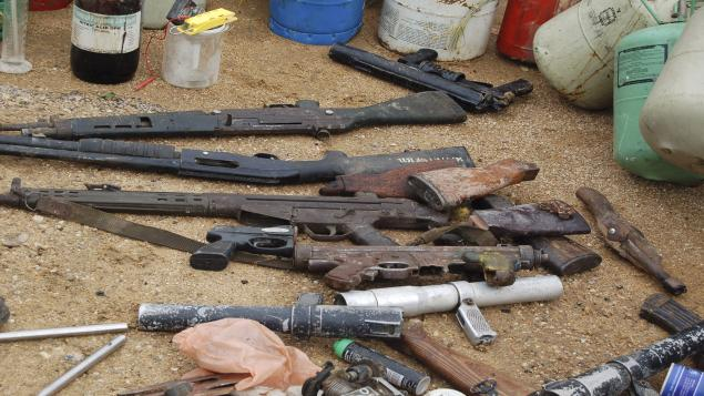 Quelques armes saisies des mains de Boko Haram