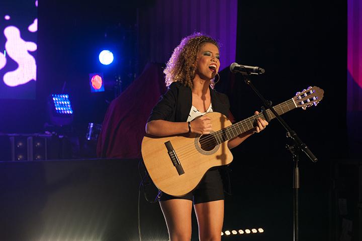 Estelle B lors de la finale de Trace Music Star Crédit photo: TRACE