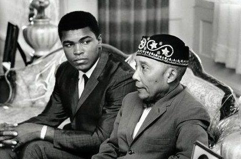 Muhammad Ali et l'Honirable Elijah Muhammad
