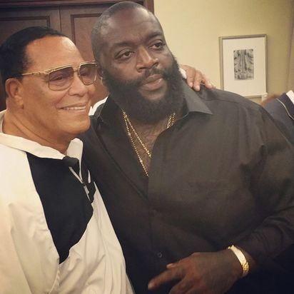 Le rappeur Rick Ross et le Ministre Louis Farrakhan