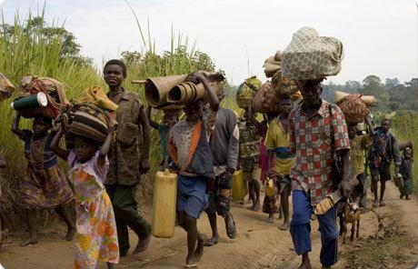 Déplacés du Kivu Source: InfosBasCongo