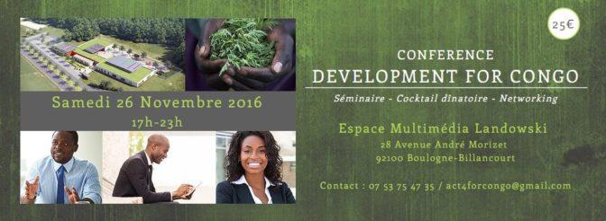 S'investir en RDC, le défi de la diaspora:  rendez-vous à la conférence «development for Congo »