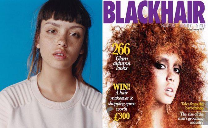 Le magazine afro-britannique BlackHair à «accidentellement» mis un mannequin blanc en première page