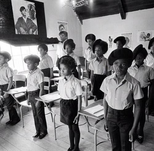 École de la libération des Black Panthers à Oakland, Californie 1968