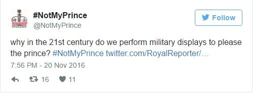 Pourquoi au XXIe siècle faisons-nous des parades militaires pour plaire au prince? #NotMyPrince