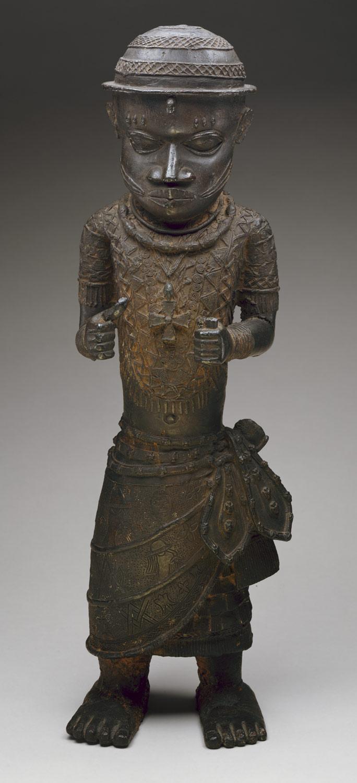 Bronze de Benin représentant peut-être un envoyé d'Ife, 17ème siècle © METMuseum