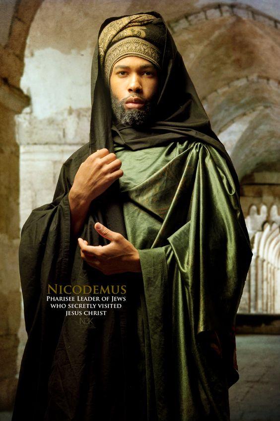 Nicodem, leader Pharisien des juifs qui rendit secrètement visite à Jesus