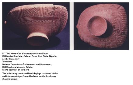 Poteries du -6ème-8ème siècle (Photographie Ekpo Eyo)