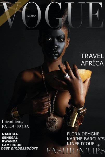 Une couverture de Vogue Africa par Mario Epanya