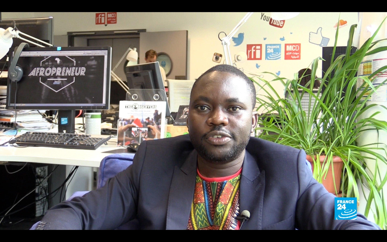 """Got'Liebe Bathaba, fondateur de l'association """"Africatic"""" et à l'initiative du documentaire """"Afropreneur, histoire d'une révolution silencieuse"""""""