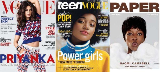 2016 : la diversité ethnique en couverture des magazines à son top