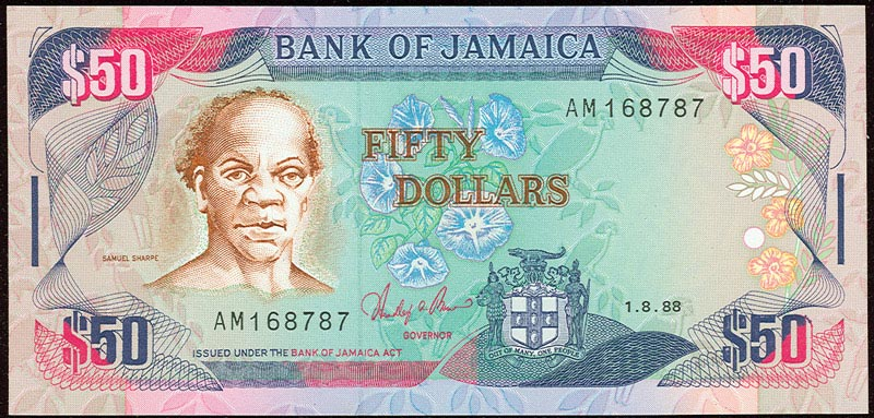 Samuel Sharpe honoré comme Héro National sur le billet de banque jamaïcain de 50£$