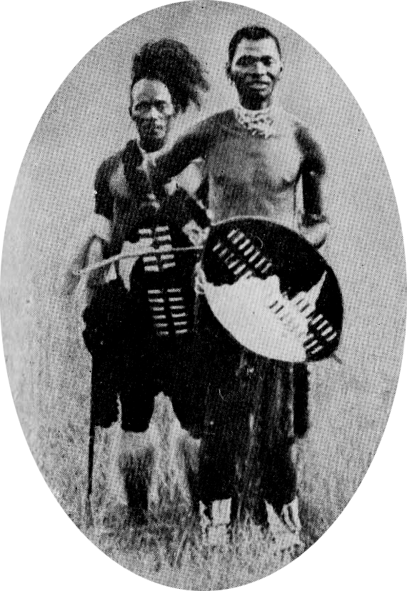 Bhambatha (à droite) avec un serviteur