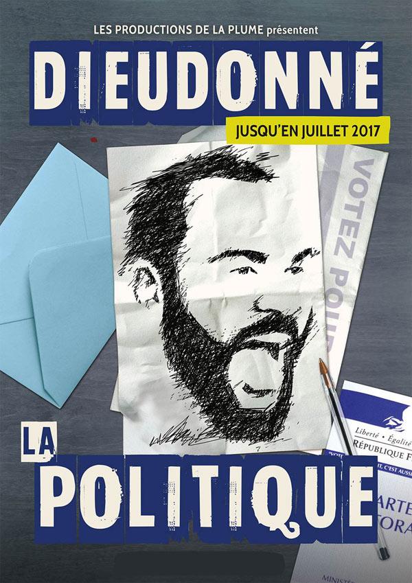 """Avec son spectacle """"La Politique"""", Dieudonné propose un nouvel univers humoristique vivant et singulier."""