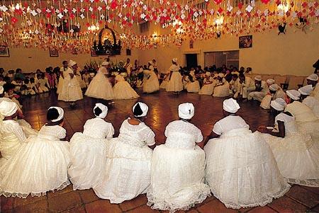 Célébration d'un rite d'Umbunda