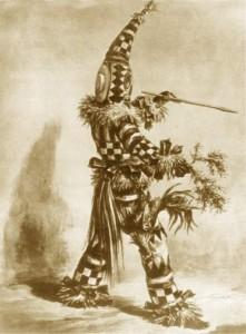 Un dessin historique d'un Ñáñigo d'Abakuá