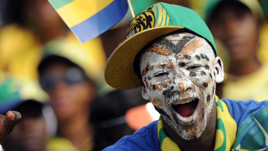 Supporter de l'équipe de football du Gabon