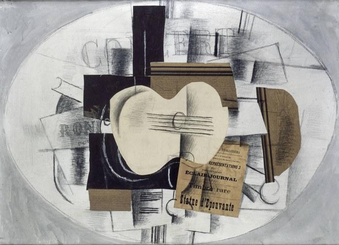 Guitare cubiste de Georges Braque, 1963. La guitare deviendra un élément incontournable du cubisme